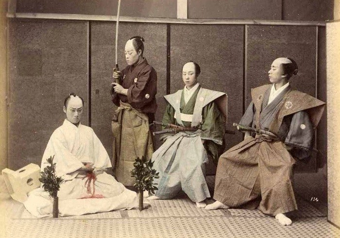 Японские самураи 130 лет назад. | Фото: LiveJournal.