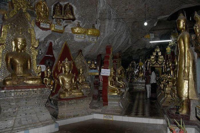 Пещерный буддистский храм Шве У Мин. | Фото: webshus.ru.